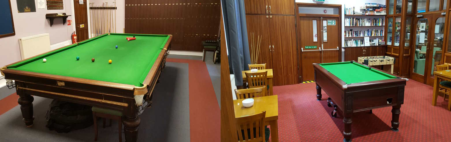 Games Room Collage -Table Football, Snooker & Pool Table